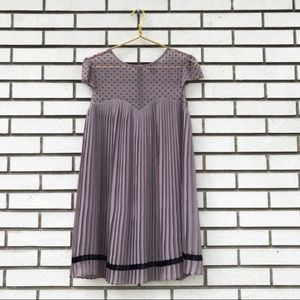 Victoria's Secret Pleated Polka Dot Babydoll Dress